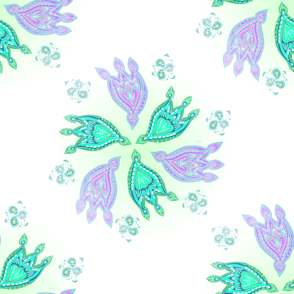 paisley starflower wallpaper